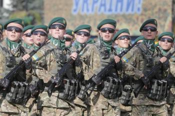 Na snímke ukrajinskí vojaci. Ilustračné foto