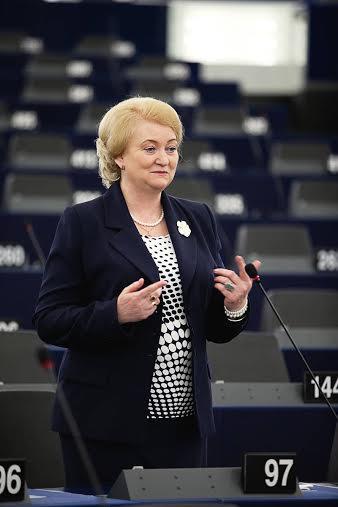 Na snímke europoslankyňa za KDH Anna Záborská