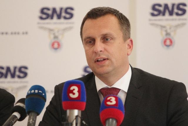 Na snímke predseda Slovenskej národnej strany Andrej Danko