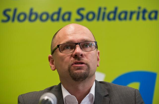 Na snímke europoslanec a predseda SaS Richard Sulík