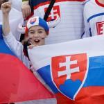 Na snímke fanúšikovia Slovenska