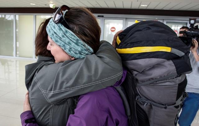 Na snímke slovenská turistka (vpravo)