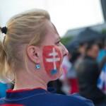 Na snímke slovenská fanúšička
