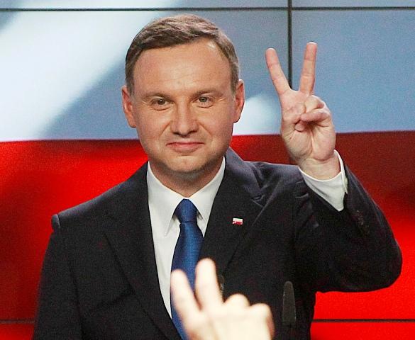 Na snímke kandidát opozičnej strany Právo a spravodlivosť Andrzej Duda