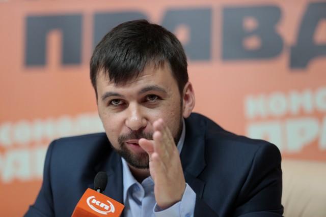 Na  snímke vice-spíker Národnej rady Doneckej ľudovej republiky Denis Pušilin