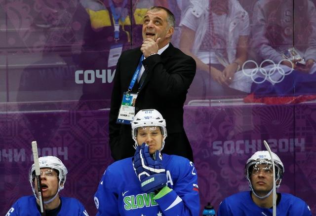 Na snímke tréner Slovinska Matjaž Kopitar