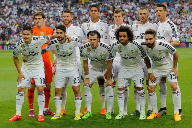 Spoločná fotografia hráčov Realu Madrid