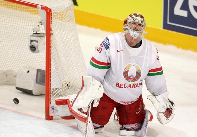 Na snímke bieloruský brankár Kevin Lalande