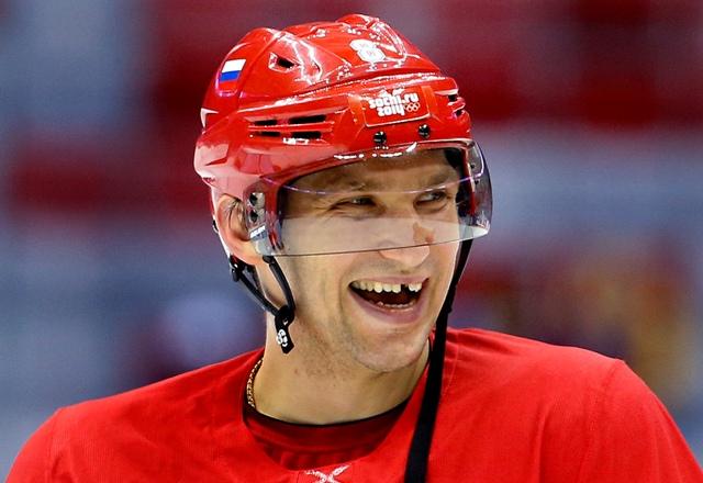 Na snímke ruský hokejista Alexander Ovečkin
