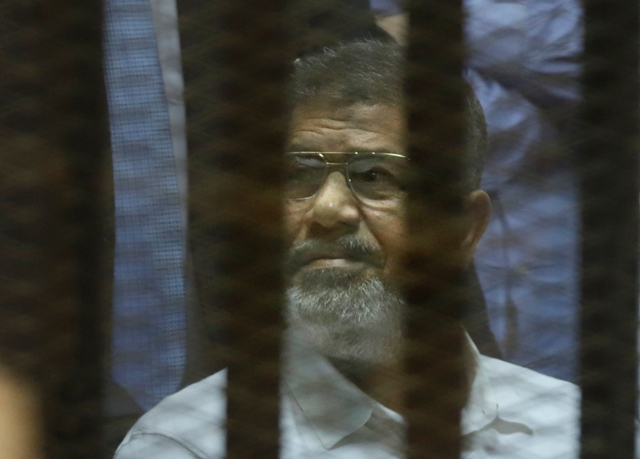 Na snímke bývalý egyptský prezident Muhammad Mursí