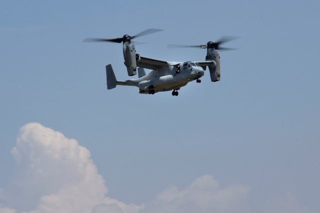 Snímka z pátrania po nezvestnom vrtuľníku