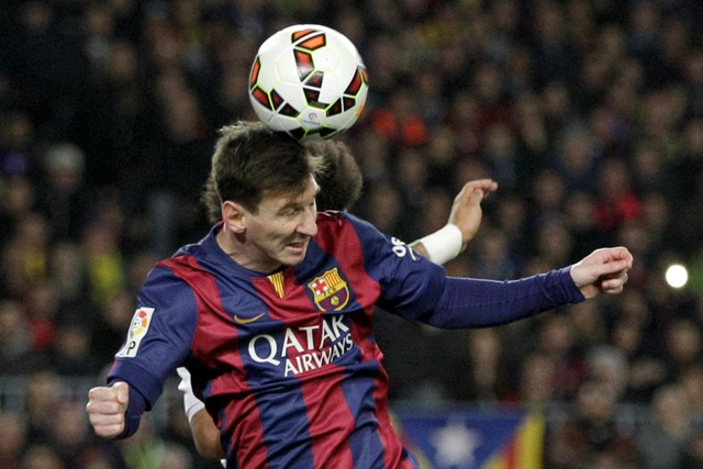 Na snímke útočník Barcelony Lionel Messi