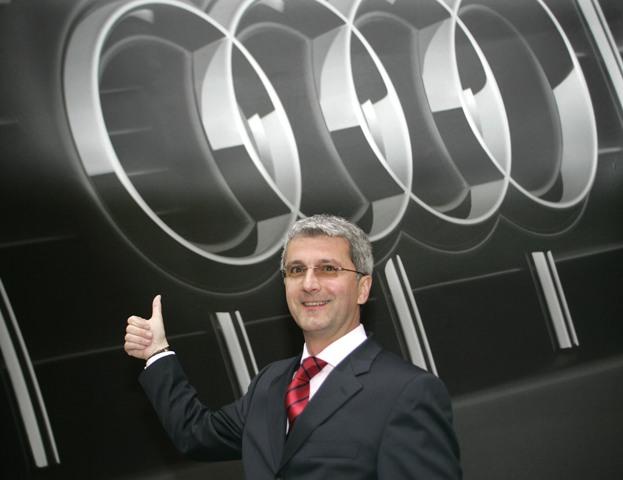 Na snímke výkonný riaditeľ automobilky Audi Rupert Stadler