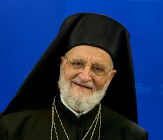 Na snímke patriarcha melchitskej gréckokatolíckej cirkvi so sídlom v Damasku Gregor III.