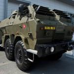 """Na snímke veliteľské vozidlo, batérie delostreleckého systému """"Delosys"""" na výstave obrannej techniky IDET v Brne"""