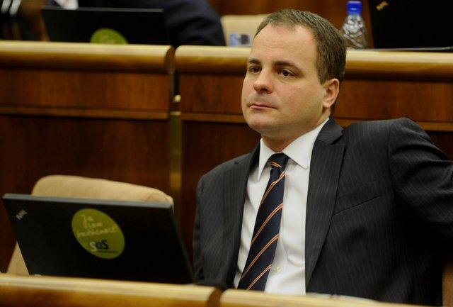 Na snímke poslanec za SaS Juraj Droba