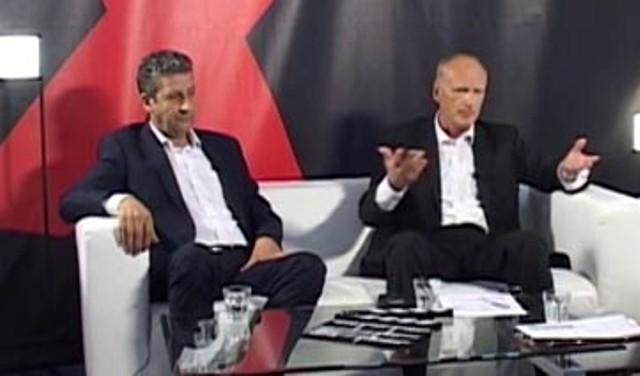 Na snímke Jaroslav Paška podpredseda SNS (vpravo) a Jalal Suleiman podpredseda KSS