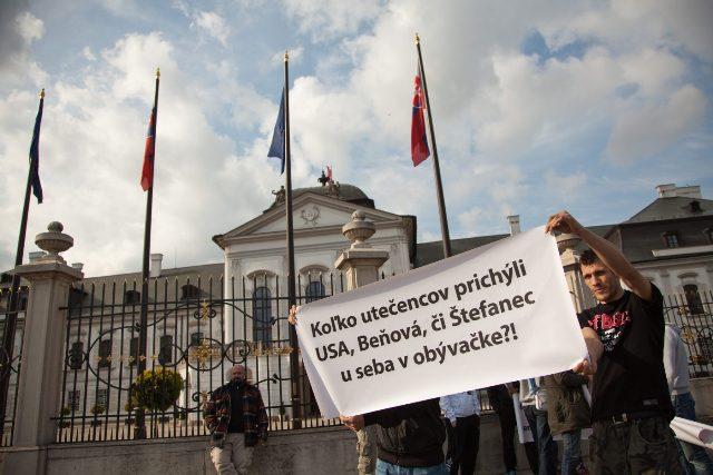 Demonštrácia na podporu prijímania utečencov