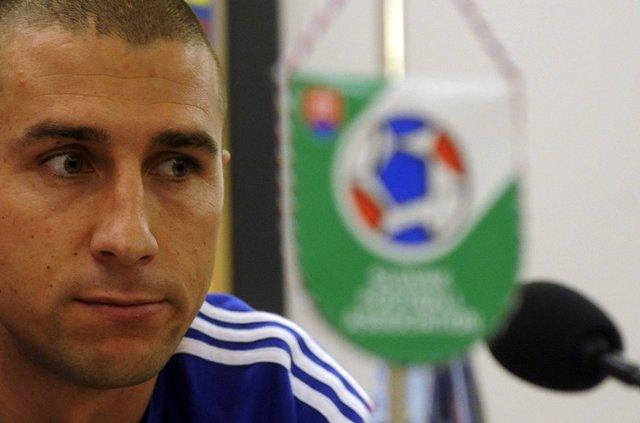 Na snímke slovenský futbalový reprezentant Martin Petráš