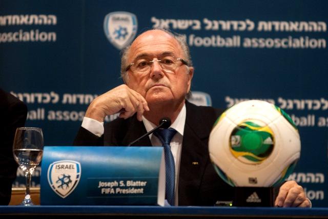 Na snímke prezident Medzinárodnej futbalovej federácie (FIFA) Sepp Blatter