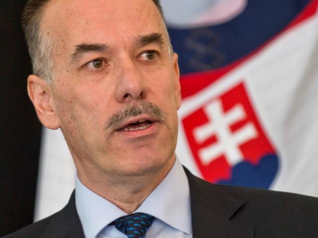 Na snímke prezident Slovenského zväzu ľadového hokeja (SZĽH) Igor Nemeček