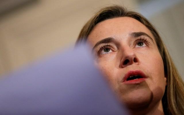 Na snímke šéfka diplomacie EÚ Federica Mogheriniová
