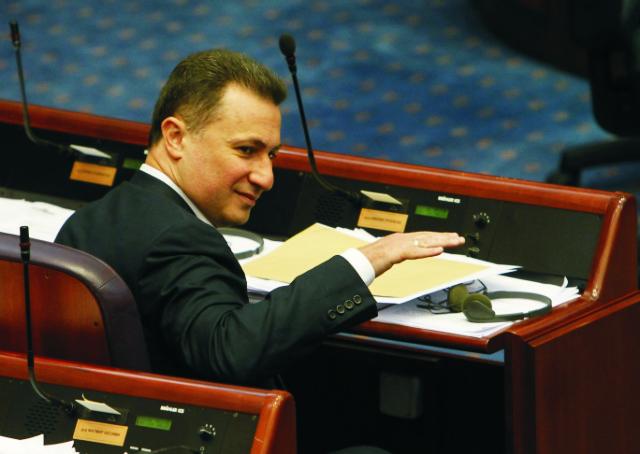 Macedónsky premiér Nikola Gruevski
