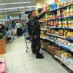 Na snímke obchod v Donecku