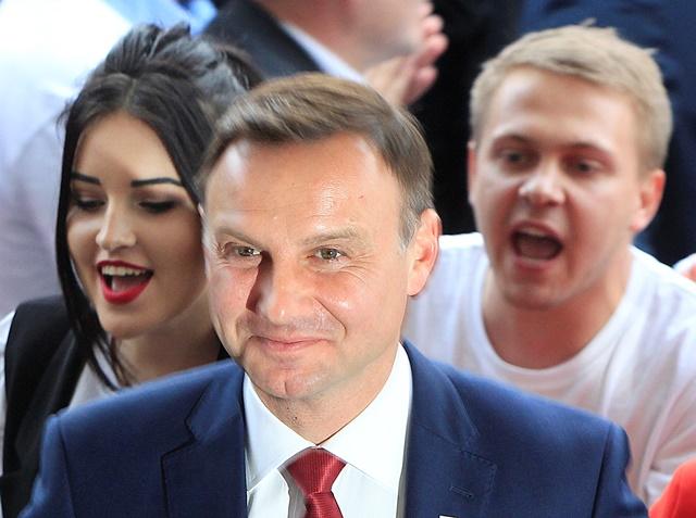 Na snímke prezidentský kandidát Andrzej Duda