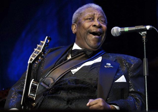 Na snímke americký bluesman BB King