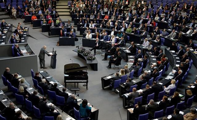 Na snímke poslanci nemeckého parlamentu