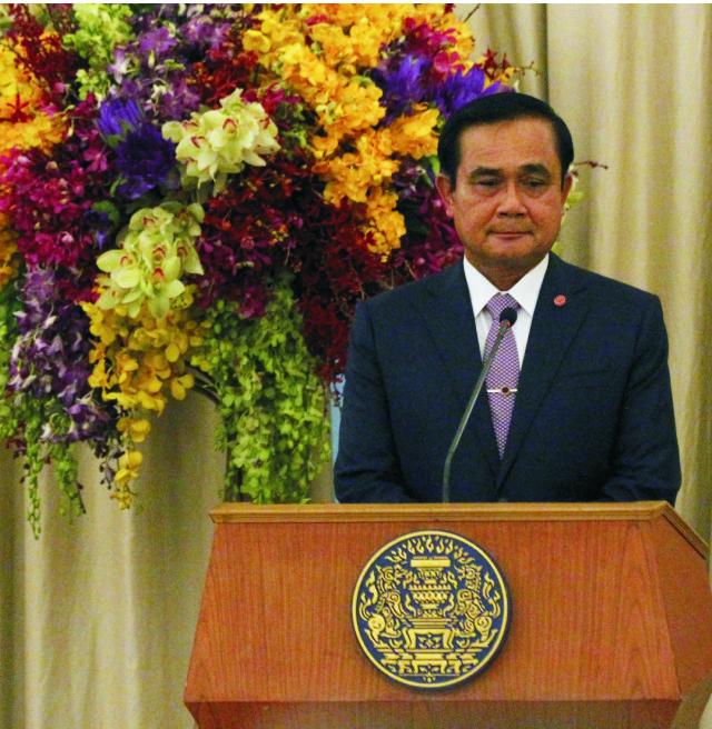 Na snímke thajský premiér Prajut Čan-o-ča