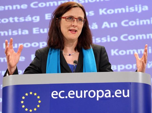 Na snímke Cecilia Malmströmová