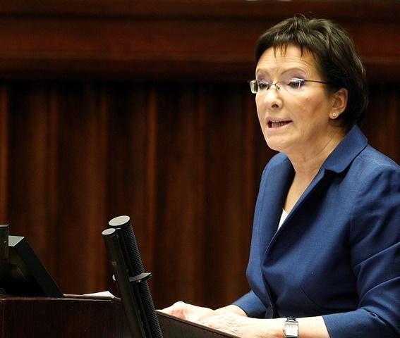 Na snímke poľská premiérka Ewa Kopaczová