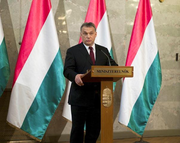 Na snímke predseda strany Fidesz a predseda maďarskej vlády Viktor Orbán