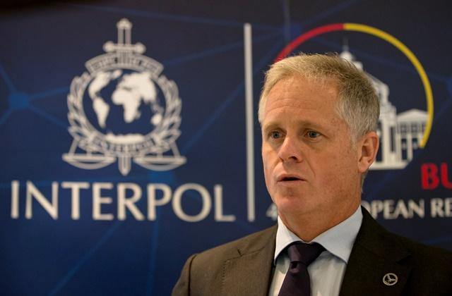 Na snímke riaditeľ Interpolu pre špecializovaný zločin a analýzy Glyn Lewis