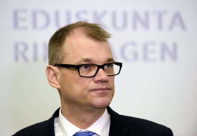 Na snímke nový fínsky premiér Juhu Sipilä