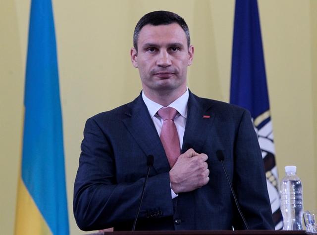 Na sníme primátor Kyjeva Vitalij Kličko