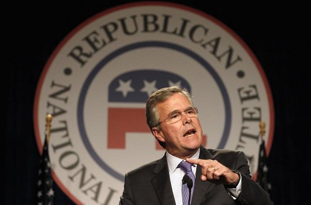 Na snímke možný republikánsky kandidát na amerického prezidenta Jeb Bush