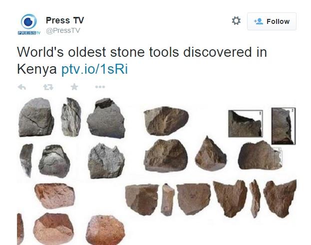 Nájdené kamenné pracovné nástroje