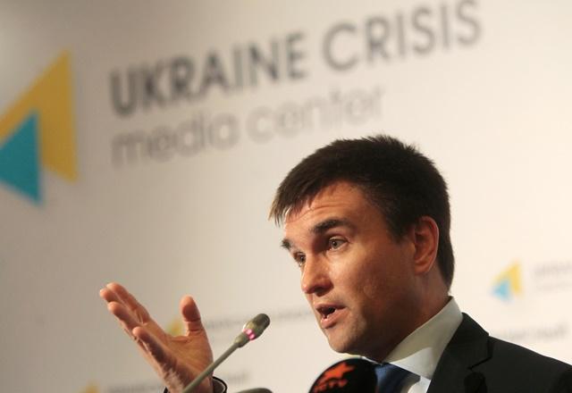 Na snímke šéf ukrajinskej diplomacie Pavlo Klimkin