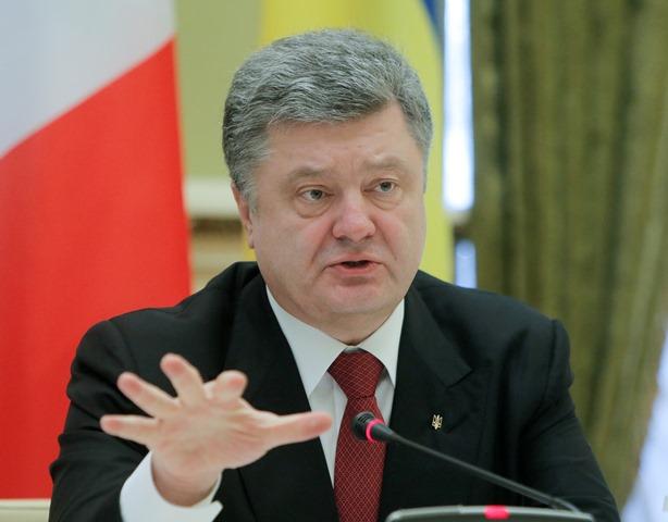 Na snímke ukrajinský prezident Petro Porošenko
