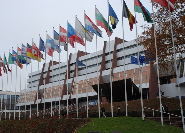 Na snímke pohľad na komplex budov Rady Európy