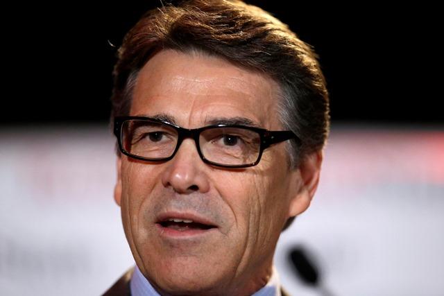 Na snímke texaský gurvernér Rick Perry