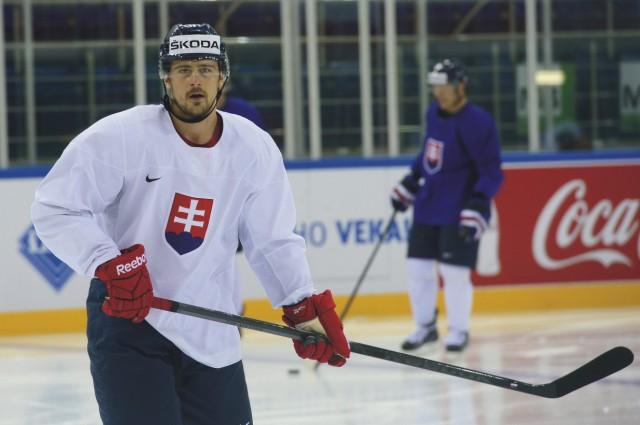 Na snímke útočník Tomáš Tatar