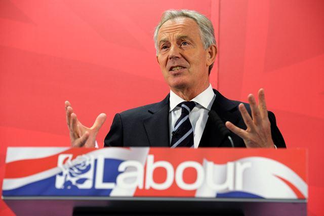 Na snímke bývalý britský premiér Tony Blair
