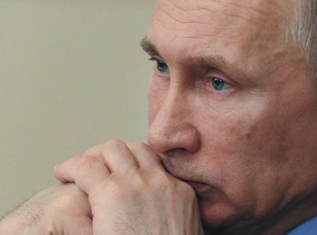 Na snímke Vladimír Putin