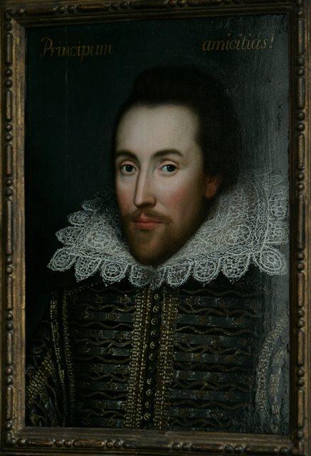 Na snímke portrét Williama Shakespeara