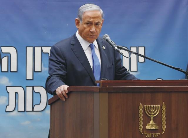 Na snímke Benjamin Netanjahu