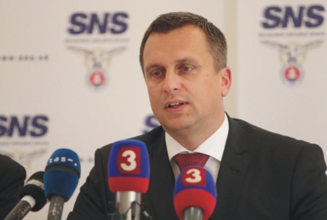 Predseda Slovenskej národnej strany (SNS) Andrej Danko